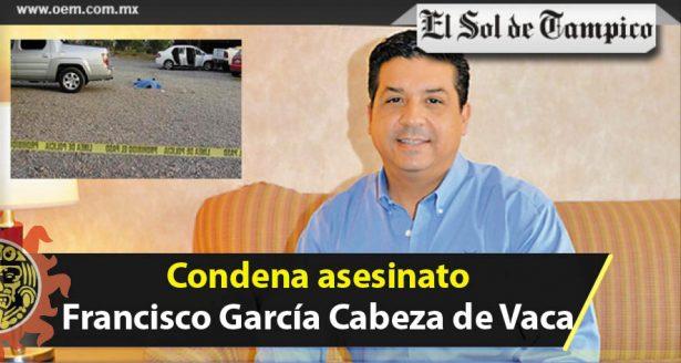 Condena asesinato Francisco García Cabeza de Vaca