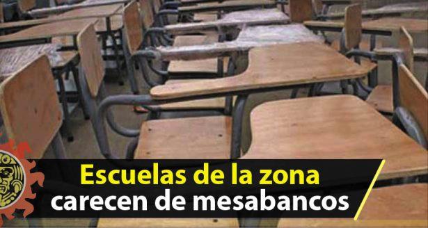 Escuelas de la zona afrontan necesidades de mesabancos