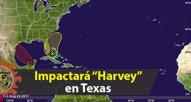 """Impactará """"Harvey"""" en Texas; mantienen vigilancia por su paso en el Golfo de México"""