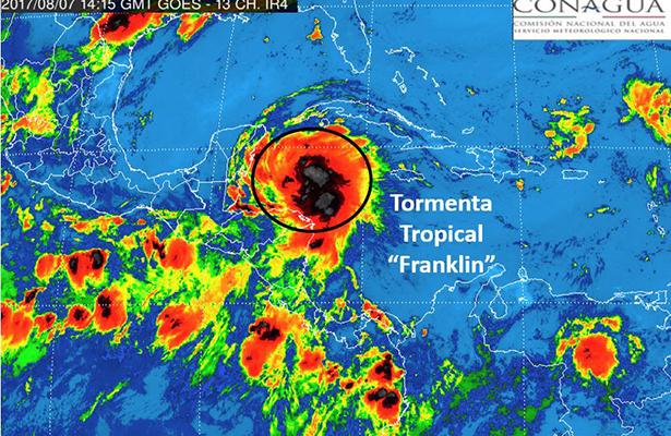 Pronóstico señala Nautla, Ver. como punto de impacto de Franklin