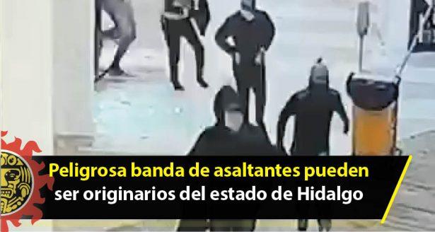 Peligrosa banda de asaltantes pueden ser originarios del estado de Hidalgo o de la Ciudad de México