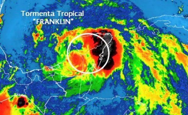 Tormenta Franklin cruza Yucatán sin reporte de víctimas