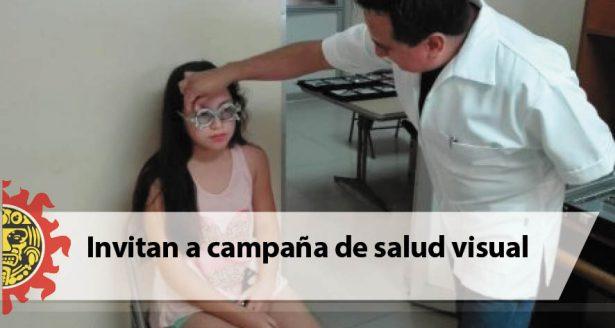Invitan a campaña de salud visual