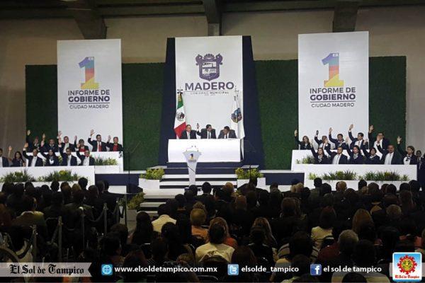 Arriba Andrés Zorrilla para rendir su Primer Informe de Gobierno