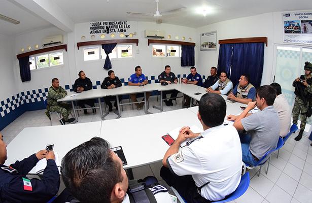 Alcalde de Pánuco coordina acciones con Protección Civil