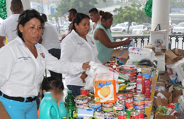 Alcaldesa de Altamira agradece el apoyo de la sociedad por las donaciones a damnificados