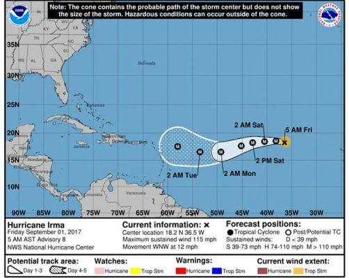 """Mantiene Protección Civil monitoreo permanente de """"Irma"""""""