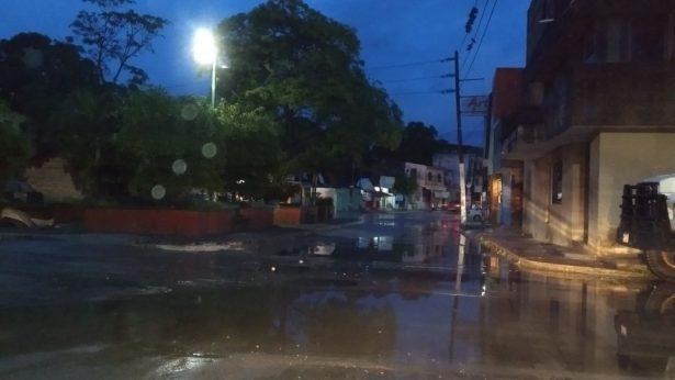 Se registran lluvias en la zona durante la madrugada