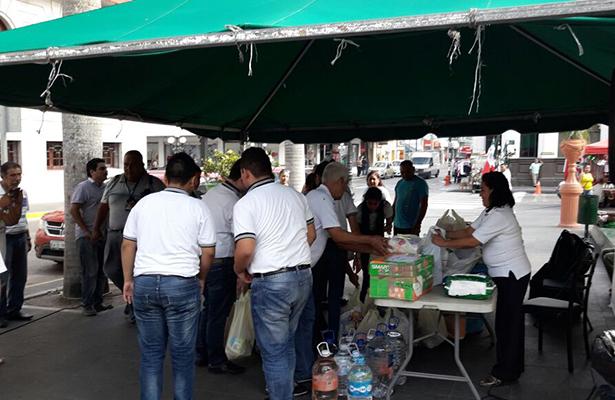 Escuelas de Tampico se suman al apoyo para los damnificados