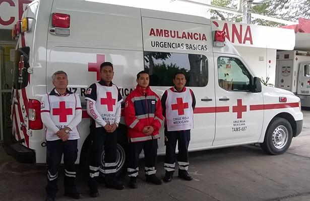 Cruz Roja Tamaulipas enviará rescatistas a CDMX