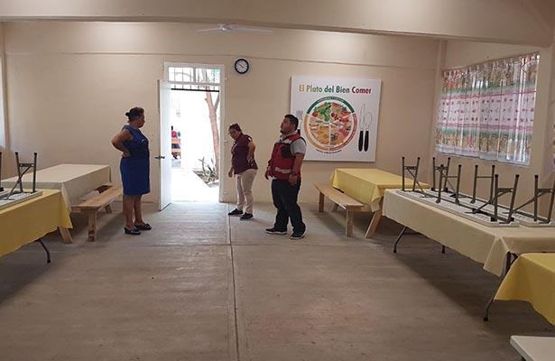 PC reporta cuarteadura en el piso de la Primaria Vicente Guerrero