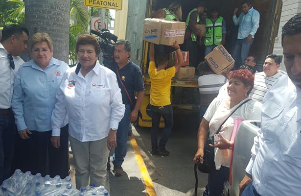 Parte camión con víveres desde Plaza de Armas