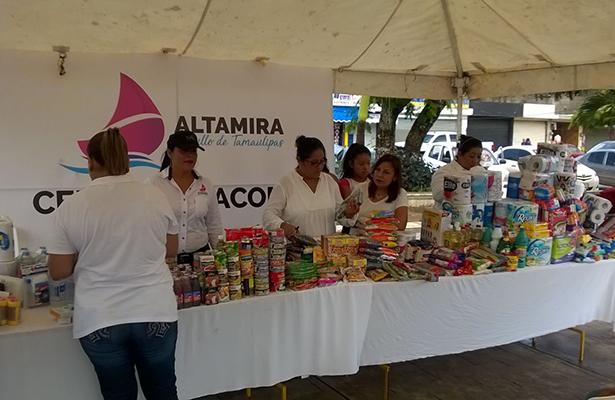Pueblo de Altamira sigue ayudando a los damnificados por temblores