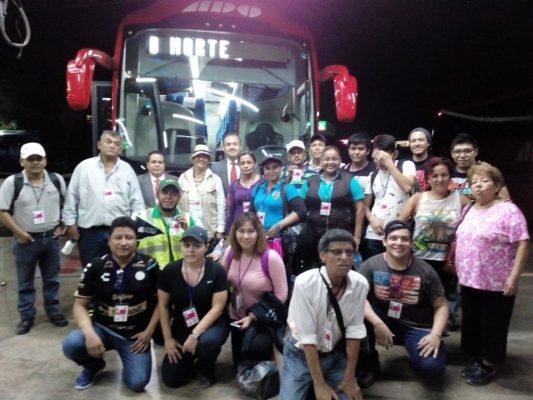Sale el tercer autobús de ADO con rescatistas para ayudar a damnificados por el temblor
