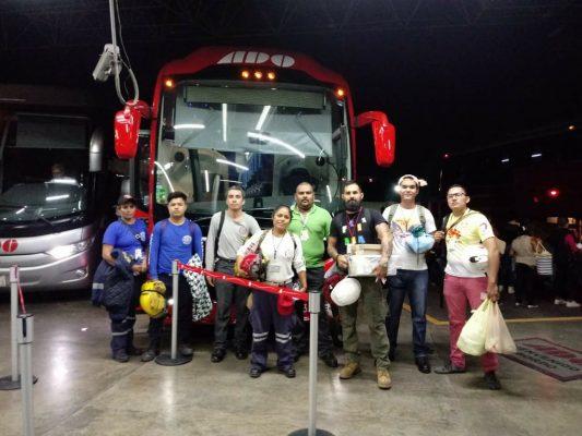 Bomberos de Altamira parten al estado de Morelos