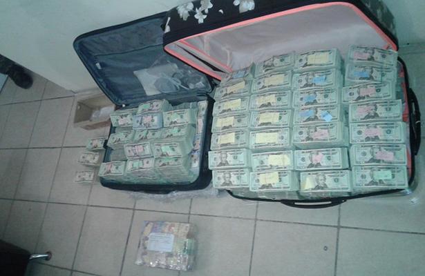 Elementos del Ejército Mexicano realizan decomiso de dinero en Nuevo Laredo