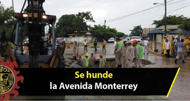 Se hunde la Avenida Monterrey