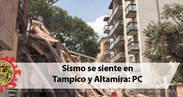 Sismo se siente en Tampico y Altamira: PC