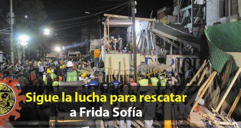Sigue la lucha para rescatar a Frida Sofía; ya se comunicó con rescatistas