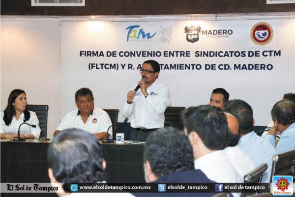 Ayuntamiento de Madero y CTM unen esfuerzos en defensa de los trabajadores