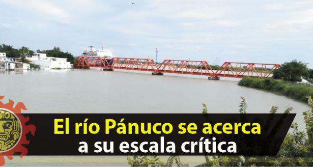 El río Pánuco se acerca a su escala crítica