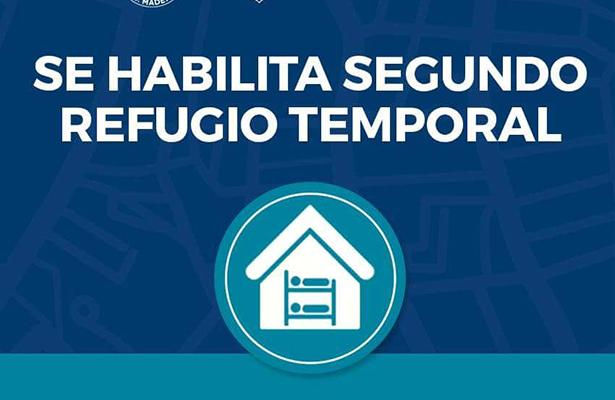 Habilitan albergue en Madero