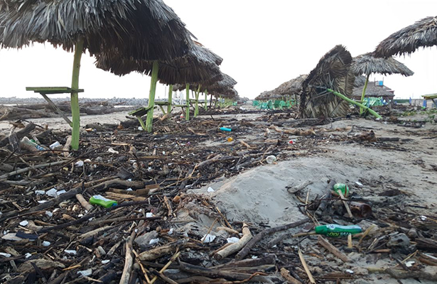 Miramar inundada… de basura