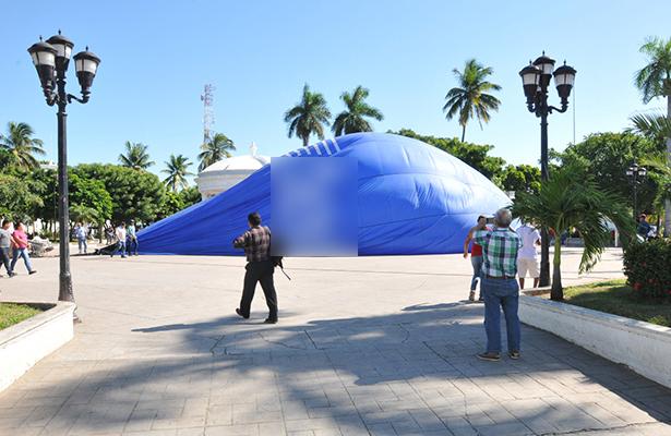 Cancelan exhibición de globo aerostático en Altamira