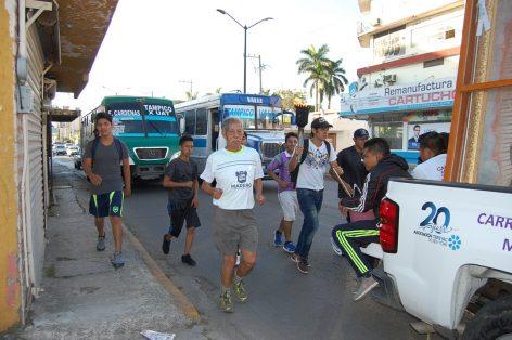 Antorcha Guadalupana continúa su recorrido por el puerto de Tampico