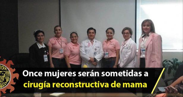 """Someterán gratuitamente a cirugía reconstructiva de mama a once mujeres en el Hospital General """"Dr. Carlos Canseco"""""""