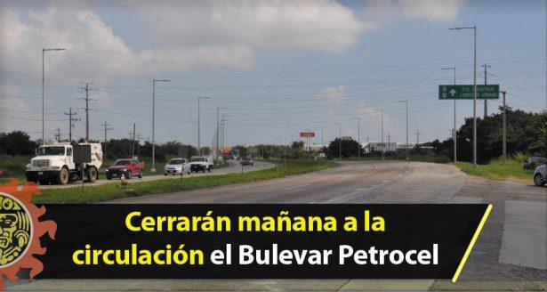 Cerrarán mañana a la circulación el Bulevar Petrocel desde las 8 hasta la 1 de la tarde