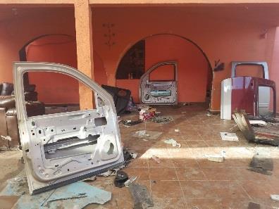 Aseguran taller de blindajes artesanales en Reynosa