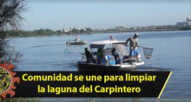 Se unen para limpiar la laguna del Carpintero
