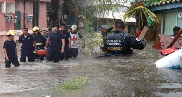 Lluvias torrenciales dejan saldo mortal en el sur de Tamaulipas
