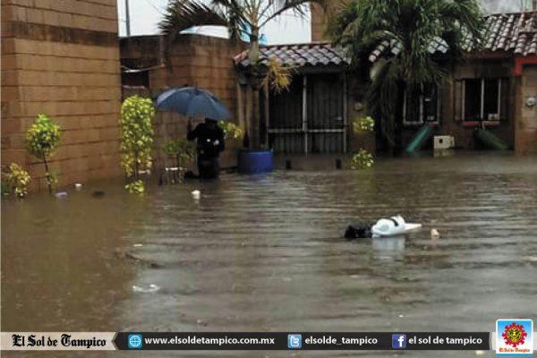 Cinco mil viviendas se inundaron en Altamira este domingo