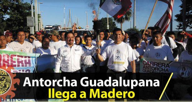 Llega la Antorcha Guadalupana a Madero