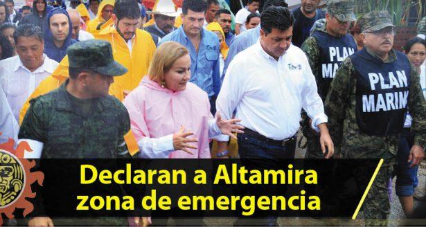 Declaran a Altamira zona de emergencia