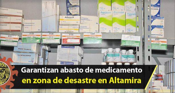 Garantizan abasto de medicamento en zona de desastre en Altamira