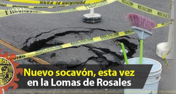 Nuevo socavón, esta vez en la Lomas de Rosales