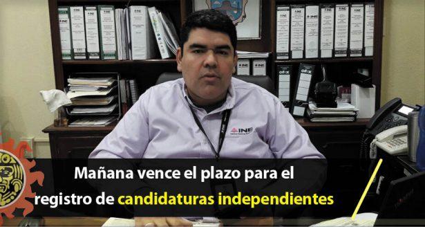 Mañana vence el plazo para el registro de candidaturas independientes