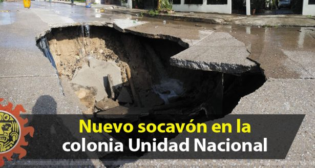 Nuevo socavón en la colonia Unidad Nacional
