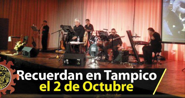 Con Recital Recuerdan en Tampico el 2 de Octubre
