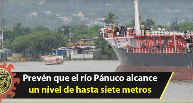 Prevén que el río Pánuco alcance un nivel de hasta siete metros
