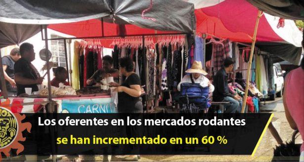 Los oferentes en los mercados rodantes se han incrementado en un 60 %