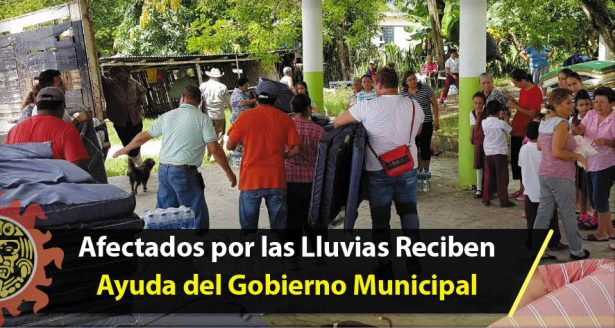 Afectados por las Lluvias Reciben Ayuda del Gobierno Municipal