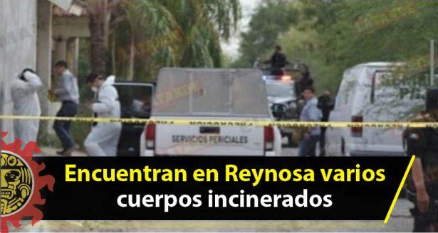 Encuentran en Reynosa varios cuerpos incinerados