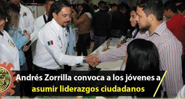 Andrés Zorrilla convoca a los jóvenes a asumir liderazgos ciudadanos