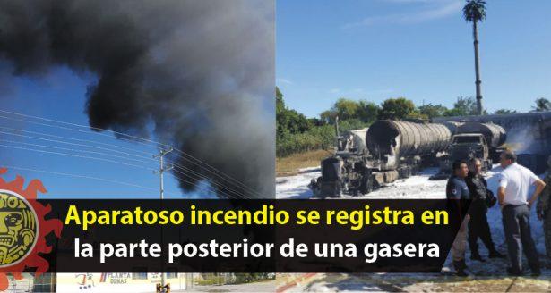 Se registra incendio cerca de la Refinería Madero