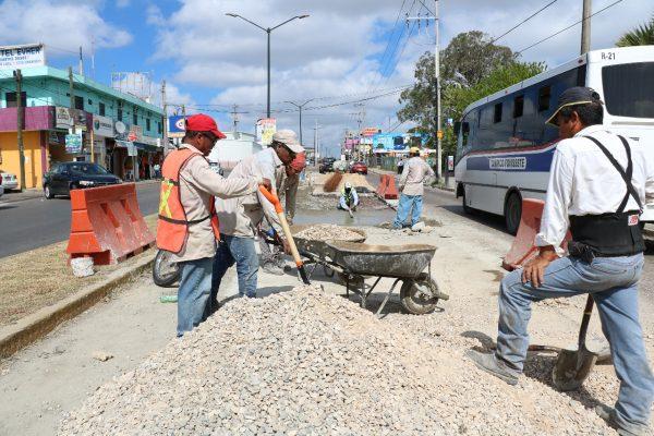 Ayuntamiento de Madero rehabilita importantes arterias viales