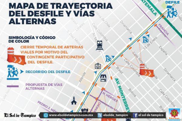 Tome sus precauciones ante el cierre de la Avenida Madero por desfile de la Revolución Mexicana
